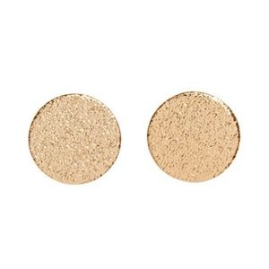 Large Textured Gold Circle Earrings